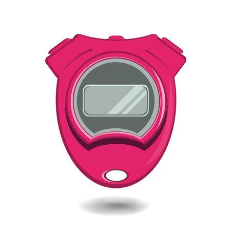 sports equipment: Stopwatch. Sports Equipment. Vector.  Icon.