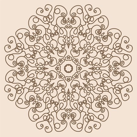 lace like: Mandala. Vintage Round Ornament Pattern Like Lace in Retro Colors. Decorative element for any kind of design.