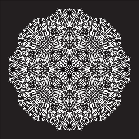 asian and indian ethnicities: Vector Beautiful Flower. Mandala. Geometric circle element made in vector. Decorative elements for any kind of design.