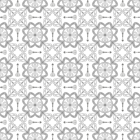 canvas print: Abstract Seamless Pattern. Vintage Ornament Pattern with arrows. Ethnic decorative elements for print and cloth, fabrics and canvas texture or any other kind of design. Illustration