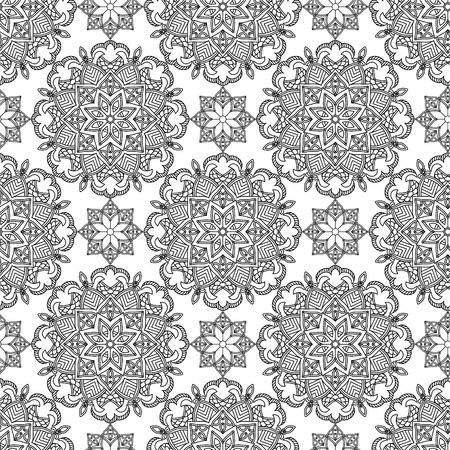 canvas print: Abstract Seamless Pattern. Vintage Ornament Pattern. Ethnic decorative elements for print and cloth, fabrics and canvas texture or any other kind of design. Illustration