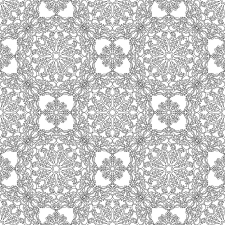 canvas print: Abstract Seamless Pattern Like Lace. Vintage Ornament Pattern. Ethnic decorative elements for print and cloth, fabrics and canvas texture or any other kind of design. Illustration
