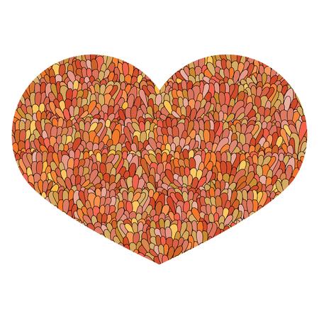 mandarins: Hand drawn heart Isolated on white background. Love image. Doodl Illustration