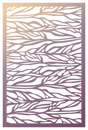벡터 레이저 컷 패널입니다. 장식 패널에 대 한 패턴 템플릿입니다. 벽 비닐 예술 장식입니다. 주식 벡터입니다.