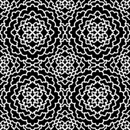 aster: Abstract Seamless Pattern. Vintage Ornament Pattern. Ethnic decorative elements for print and cloth.