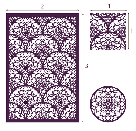 golden daisy: Laser cut panel pattern for decorative panel. Illustration