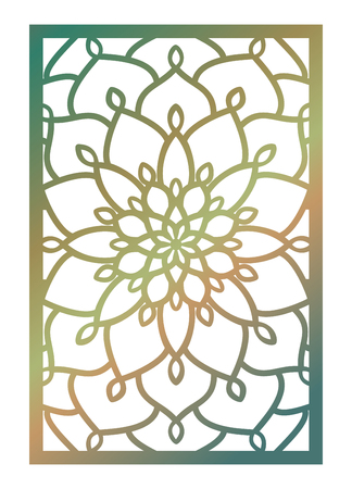 Laser cut panel, Pattern template for decorative panel.