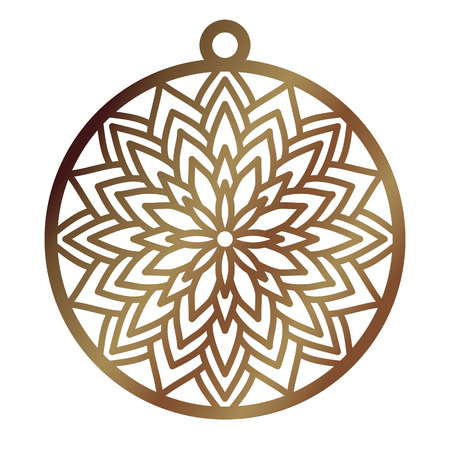 Laser cut openwork Christmas decoration vector design. Merry Christmas decoration symbol for paper cutting, wood carving and Christmas decorations.