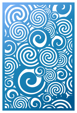 Laser cut panel vector, pattern template for decorative panel. Wall vinyl art decor stock vector.