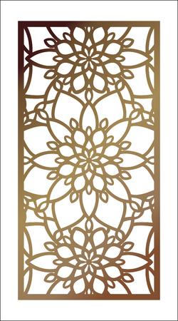 ベクトルレーザーカットパネル。装飾パネルのためのパターンテンプレート。壁のビニールアートの装飾。ストックベクトル。  イラスト・ベクター素材
