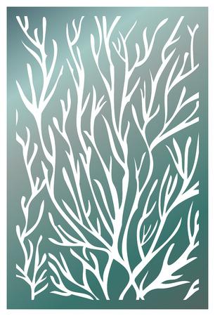 Vector Laser cut panel. Pattern template for decorative panel. Wall vinyl art decor. Stock vector. 免版税图像 - 95341728