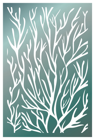 Vector Laser cut panel. Pattern template for decorative panel. Wall vinyl art decor. Stock vector.