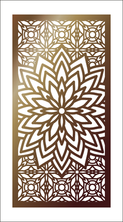 Vector Laser cut panel. Pattern template for decorative panel. Çizim