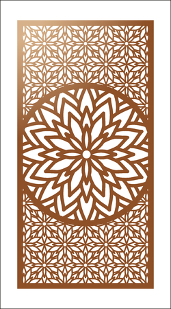 Vector Laser cut panel. Pattern template for decorative panel. Vector illustration.