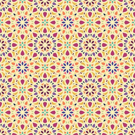 Vector Abstract Seamless Pattern. Vintage Color Geometric East Ornament Pattern. Ethnic decorative element. Boho Style. Ilustração