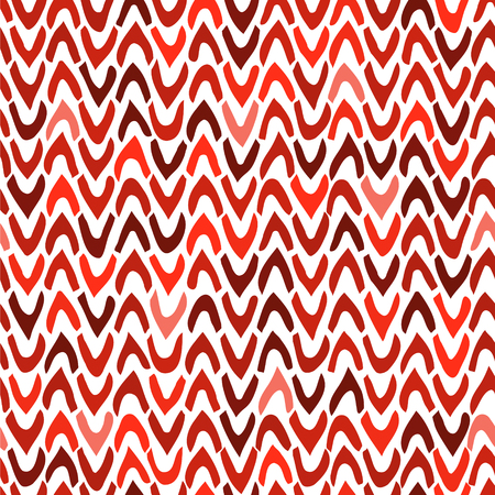 Vector Abstract seamless pattern with hand drawn chevron. Ticks with rough edges in different bright colors on white background. Trendy graphic design. Illustration