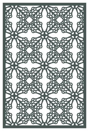 Vector Laser cut panel. Pattern template for decorative panel. Wall art decor. Stock vector.