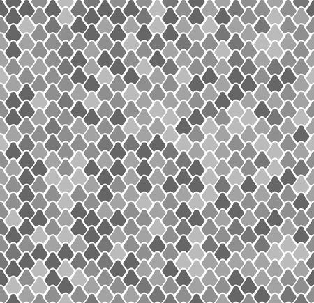 """Patrón transparente de vector abstracto. Inspirado en el motivo """"Escama de pez"""" chino y japonés. Textura simplemente de moda. Fondo abstracto minimalista con tema de la naturaleza. Stock vector. Ilustración de vector"""