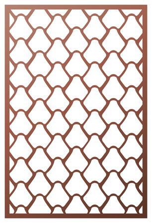 Vector template laser cut panel. Inspired by Chinese and Japanese