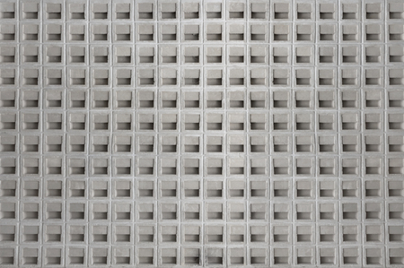 White cement wall pattern with ventilation block for background or texture. Stock Photo