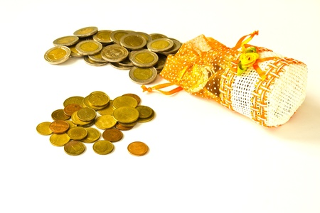 Cash on a white background. Stock Photo