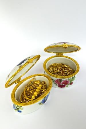 Gold in a beautiful Thai-style boxes. Stock Photo - 10509533