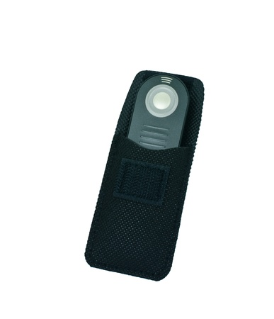 Camera remote control isolated on a white background. photo