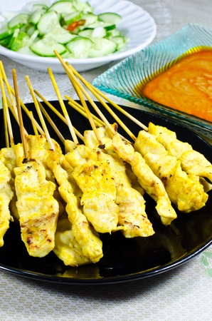 Chicken satay is the food of Asia.