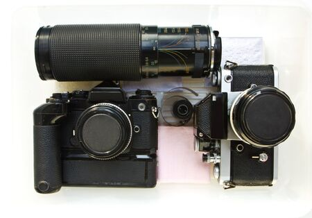 Set of old slr  film cameras. Stock Photo - 11760817