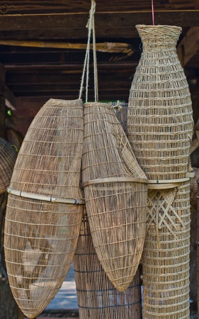 Ancient fishing equipment of rural Thailand  photo