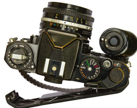 Old film camera on a white background Stock Photo - 12966067