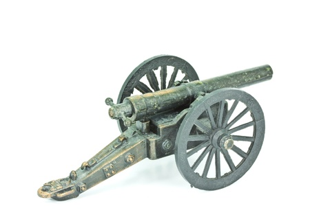 Old Cannon model on a white background