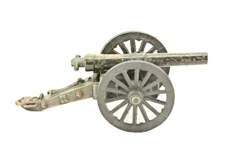 Old cannon model on a white background  photo