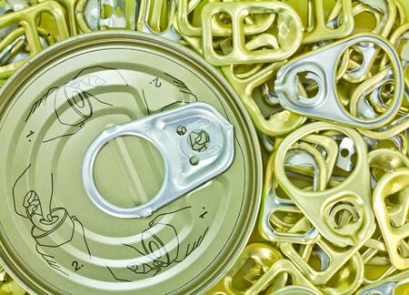Ring pull open the cans  Stock Photo - 13357409