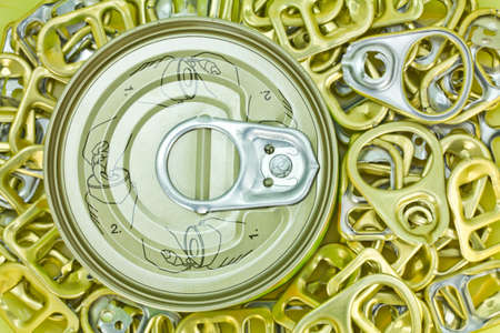 ring pull: Ring pull open the cans  Stock Photo