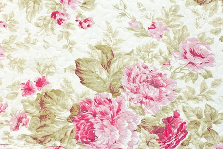 Floral pattern on the fabric