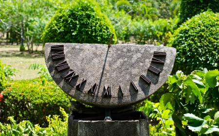 The sundial in the park.