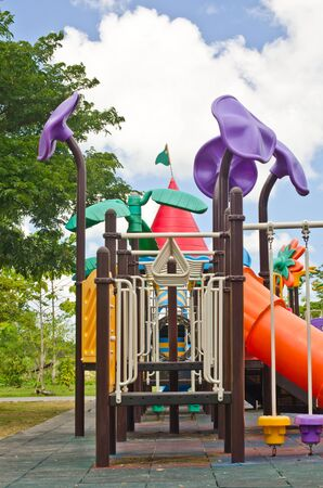 Playground in the green park. photo
