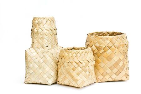 Basket made of pandan leaves