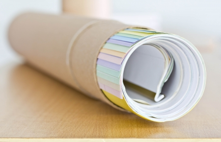 Roll of paper in the box  photo