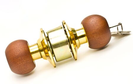 door lock: Lock knob made ​​of wood