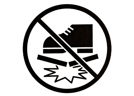 Symbol of do not step on isolated on White Background