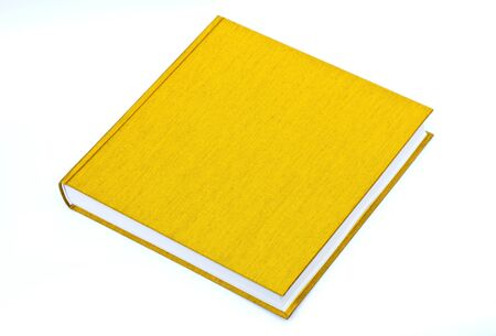 Yellow book On a white background. photo