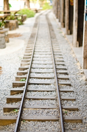 Railroad tracks in rural villages  photo