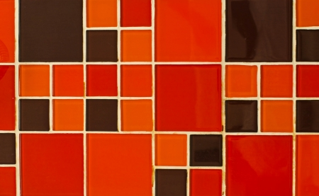Abstract square pixel mosaic background  Modern glossy tile  photo