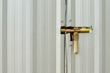 Latch on a metal shed door Stock Photo - 18976405