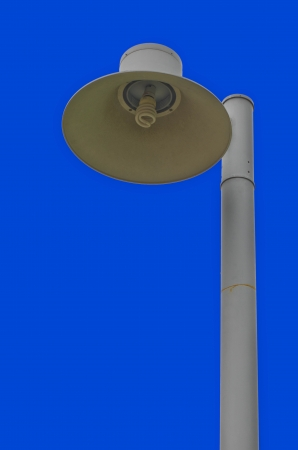 Outdoor lamp in the park with blue sky  photo