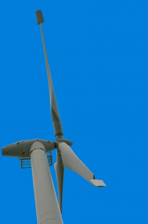 Wind generator blades with blue sky  photo