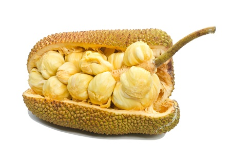 Jackfruit fruit isolated on white background