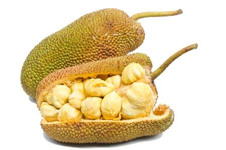 Jackfruit fruit isolated on white background